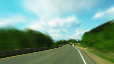 Fast driving timelapse in countryside Stock Video Footage
