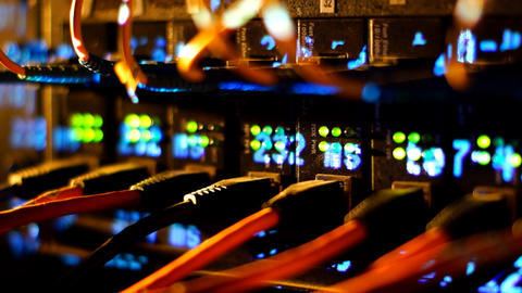 Network server 10 Stock Video Footage