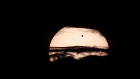 Passage of Venus across the disk of the Sun 06.06.2012,... Stock Video Footage
