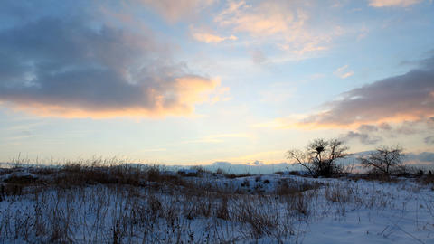 Sunrise in winter (Time Lapse) Stock Video Footage