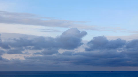 Clouds over the sea in winter (Time Lapse) Stock Video Footage