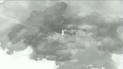 fast flying through storm clouds tunnel in universe &... Stock Video Footage