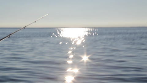 solar path from the fast moving motor boat Stock Video Footage