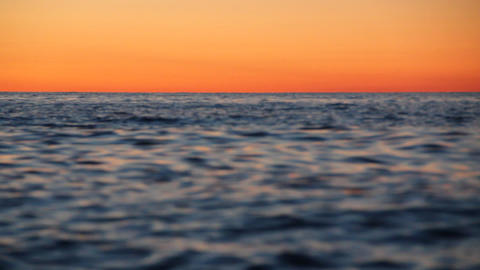 the sunset at the sea from the boat Stock Video Footage