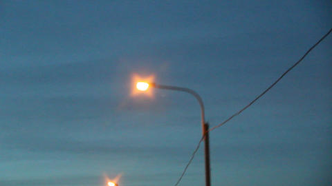 video night lights from moving car Stock Video Footage