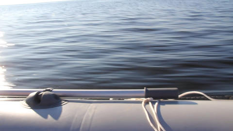 video of water from the fast moving motor boat Stock Video Footage