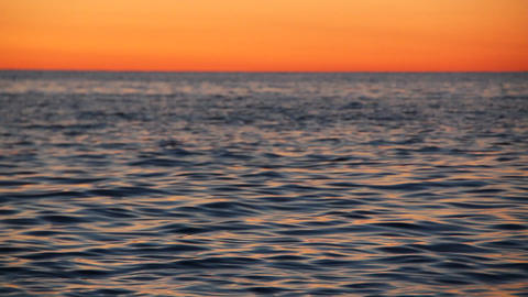 videography waves at sunset Stock Video Footage