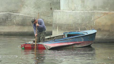 Fisherman 1 Stock Video Footage