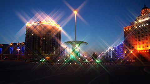 Heihe City Night Lights Stock Video Footage