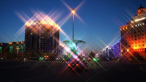 Heihe City Night Lights Footage