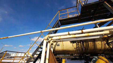 Oil distribution station 5 Stock Video Footage