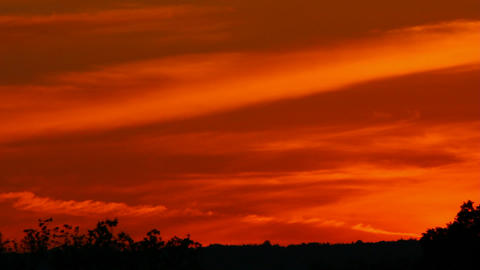 timelapse with dramatic red sunset Stock Video Footage