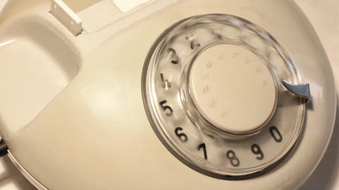 close-up view on old telephone dial Stock Video Footage