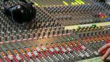 controls of dj music mixer close-up Footage
