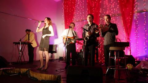 UFA, RUSSIA - DECEMBER 25, 2010: Christmas concert Stock Video Footage