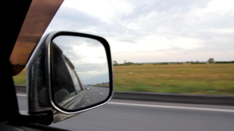 rearview mirror Stock Video Footage