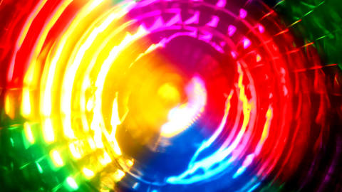 abstract colors lights turning - changing focus Stock Video Footage