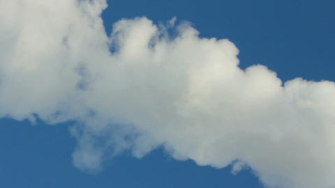 smoke from chimney under blue sky Stock Video Footage