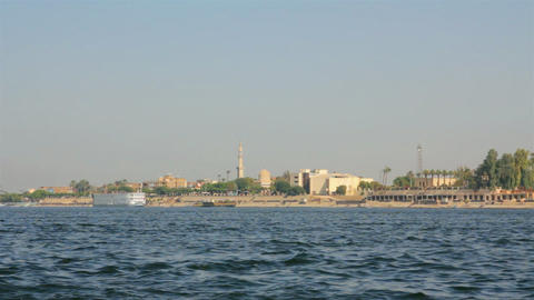 crossing of the Nile River in Luxor, Egypt Stock Video Footage
