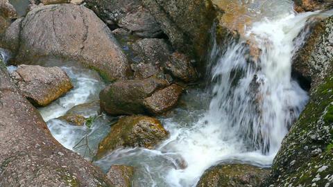 waterfall Kukrauk in Russia, Ural Stock Video Footage