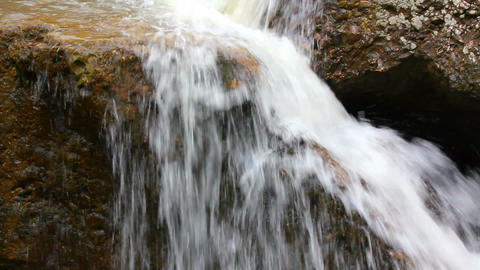 waterfall among rocks close-up Stock Video Footage