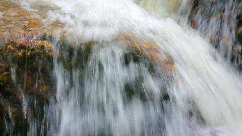 waterfall among rocks close-up Stock Video Footage