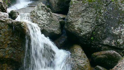 waterfall Kukrauk in Russia, Ural Stock Video Footage
