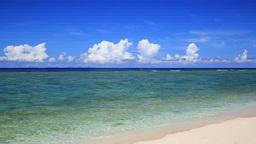 沖縄本島と積乱雲とサンゴ礁 Footage