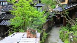 Kurokawaonsen Hot Springs stock footage