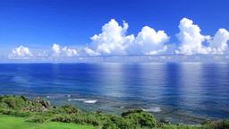 Cumulonimbus clouds and the ocean Footage