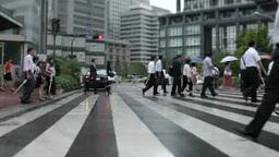 Morning commuting landscape at Tokyo Station Footage
