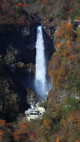 明智平展望台から望む華厳の滝 영상물
