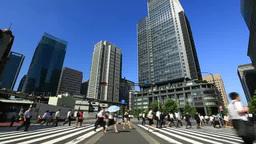 東京駅朝の通勤風景 Footage