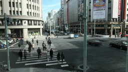 Ginza 4-chome intersection Footage