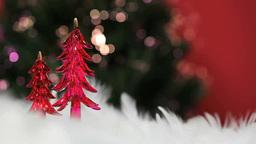 Glass Christmas tree and illumination Footage