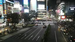 Shibuya Train Station Crosswalk Footage