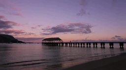 Early in the morning at Kauai's Hanalei Pier Footage