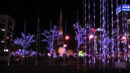 Sapporo with white illumination Footage