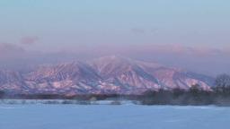 朝焼けの日高山脈 Footage