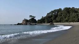 Katsura Beach stock footage