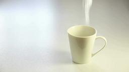 湯気がでるコーヒカップ Footage
