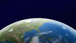 Earth orbit Earth watching North America from orbit Footage