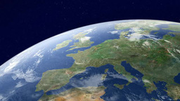 Earth watching Europe from orbit Footage