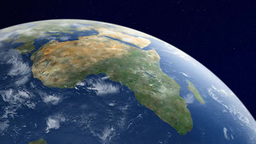 Earth watching Africa continent from orbit Footage