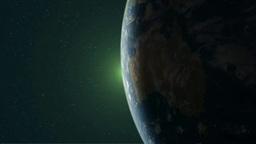 オーストラリア大陸と現れる太陽 Footage