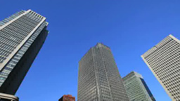 Marunouchi building group and blue sky Footage