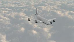 雲の上を飛ぶジェット旅客機 Footage