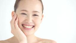 若い日本人女性の美容イメージ Footage