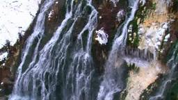 白髭の滝 冬 Footage