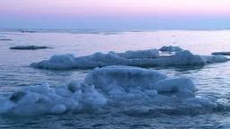 朝のオホーツク海の流氷 Footage